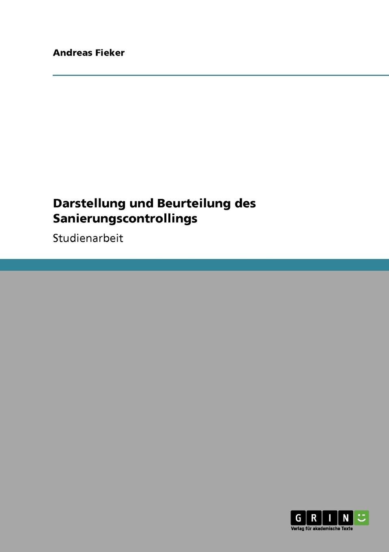 Darstellung und Beurteilung des Sanierungscontrollings (German Edition) PDF ePub fb2 book