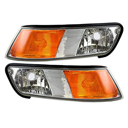Driver and Passenger Park Signal Side Marker Lights Lamps Replacement for Mercury XW3Z 15A201 BB XW3Z 15A201 AB AutoAndArt