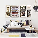 LQQGXL Photo frame collage 6 resin frame creative composition bedroom wall decoration Photo frame