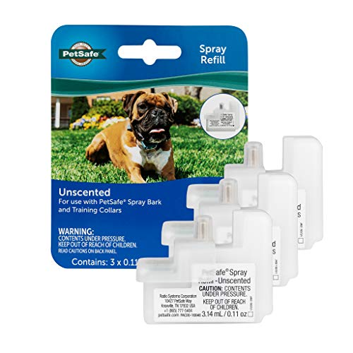 PetSafe Spray Bark Unscented Refill, Replacement Cartridges Spray Bark Collar, Refill Cartridge Only, Collar Not Included, 3-Pack