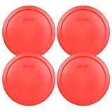 Pyrex 7402-PC Red Round Storage Replacement Lid Cover fits 6 & 7 Cup 7 Dia. Round by Pyrex