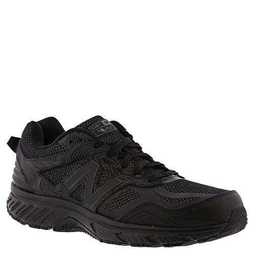 New Balance Men's 510v4 Cushioning Trail Running Shoe, Black, 10.5 4E US
