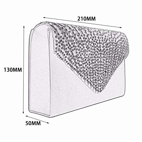 Strass Femmes Nuptiale Satin À Givré Clutch Enveloppe White Prom Main color Purse Sac Soirée Party White HrqfTExrw