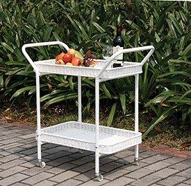 - Jeco Outdoor Resin Wicker Serving Cart