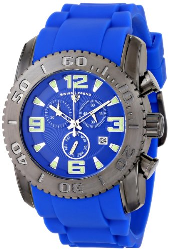 Swiss Legend Men's 10067-GM-03 Commander Analog Display Swiss Quartz Blue Watch