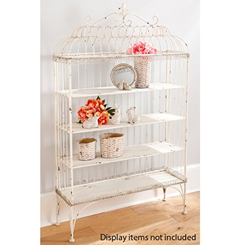 60'' White Garden Gate Shelf Furniture by Raz