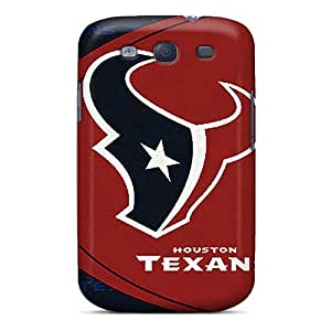 KerryParsons Samsung Galaxy S3 Anti-Scratch Cell-phone Hard Covers Allow Personal Design Lifelike Houston Texans Skin [jJf1725SxfG]