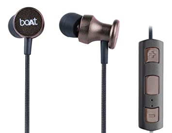 Buy Boat Rockerz In Ear 200 Bluetooth Headphone With Mic Metallic Brown Online At Low Prices In India Amazon In