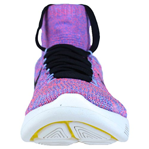 Nike Womens Lunarepic Flyknit Scarpa Da Corsa High-top Hot Punch / Nero-alluminio-blu Medio