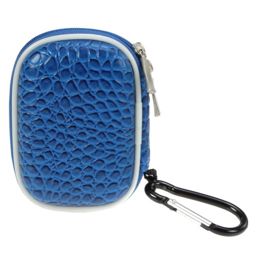 BIRUGEAR Schutztasche Aufbewahrungsbox l für Wireless Bluetooth 3.5 mm Hands-free Kopfhörer Sport-kopfhörer Ohrhörer( Blau )