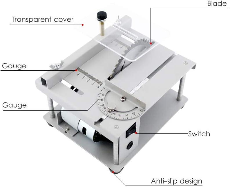 KKmoon Sierra de Mesa multifuncional de 150W Mini Cortadora de Sierra de Escritorio M/áquina de Corte El/éctrica Ajuste de /ángulo de Velocidad Ajustable Profundidad de Corte de 40 mm
