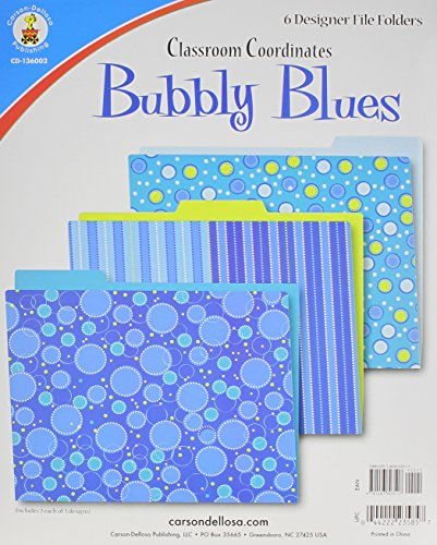 Bubbly Blues File Folders