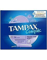 Tampax Compak Light Tampons met applicator van kunststof, 22 stuks, 1 verpakking
