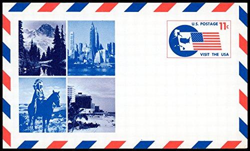 US 1966 Visit the USA Airmail Postal Card #UXC5