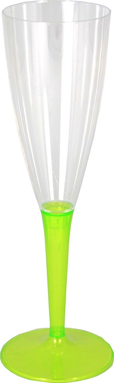 100/ml Mozaik Lot de 6/fl/ûtes /à champagne en plastique vert anis