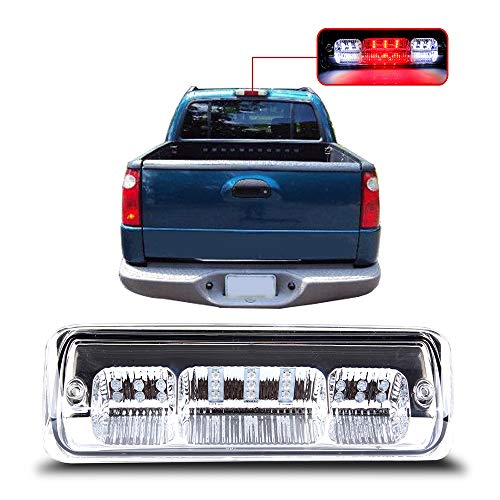 for 2004-2008 Ford F-150 2007-2010 Ford Explorer Sport Trac 2006-2008 Lincoln Mark LT High Mount Brake Light Clear Lens LED Light LED 3rd Brake Light Cargo Light ()