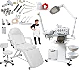 13-in-1 Elite Series Multifunction Diamond Microdermabrasion Facial Machine & Adjustable Stationary Bed Table Chair Salon Spa Beauty Equipment