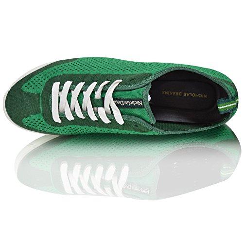 Grün Zunge Markiert Smart schnürbar Leder mit Leicht Herren Mode Turnschuhe gBxqpzvw