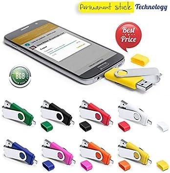 Lote de 10 Memorias Pendrive USB 8 GB con Conexión Micro USB en Caja de Regalo, Colores Surtidos: Amazon.es: Electrónica