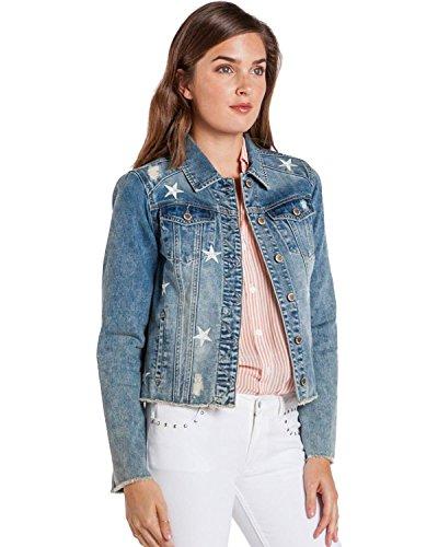VELVET HEART Women's Jameson Stars Denim Jacket Blue - Star Jeans Blue