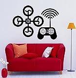 Drone UAV Wall Decal Vinyl Sticker Interior Housewares Design Removable Home Decor (4drn)