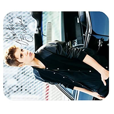 LeonardCustom- Personalized Rectangle Non-Slip Rubber Mousepad Gaming Mouse Pad / Mat- Justin Bieber -LCMPV1113