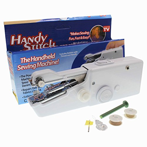 Jiuzhoudeal Portable sewing machine mini Handy sewing machine Cordless Handheld Sewing Kits Single Thread Handy Stitch Professional Smart Electric Household Tailor Quickstitch Compact Sewing Machine