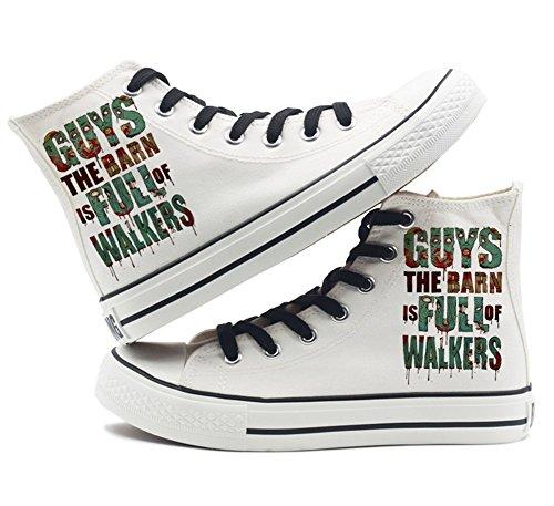The Walking Dead Schuhe Canvas Schuhe Sneakers Weiß / Schwarz Weiß 2