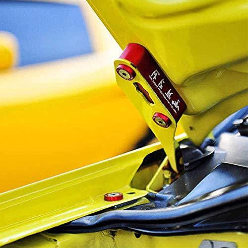 Red Travay Hood Spacer Riser Kit Replacement for Honda Civic Acura Integra,Aluminum Alloy Billet Car Hood Vent Spacer
