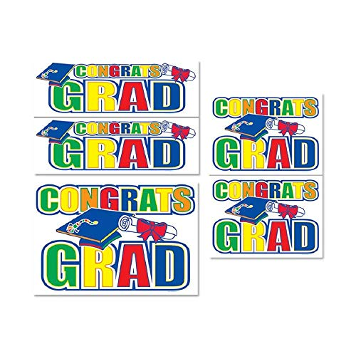 - Bargain World Congrats Grad Auto-Clings (with Sticky Notes)
