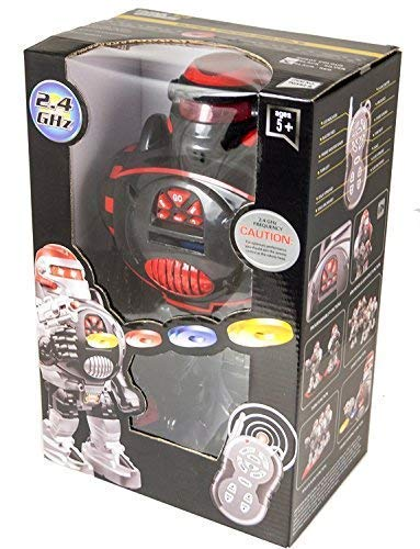 Think Gizmos Remote Control Robot for Kids - RoboShooter Robot Toy for Boys & Girls Aged 5 6 7 8 (Black) by Think Gizmos (Image #2)