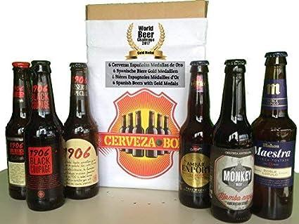 Cerveza Box - 6 Mejores Cervezas Españolas Ganadoras World Challenge Beer, Estrella Galicia 1906 Reserva Especial, Red Vintage, Black Coupage, Ambar ...