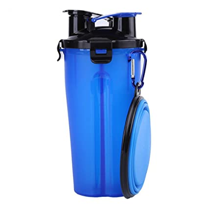 Ocama Travel Water Bottle 700ML Dog Water Cup Food Storage Bottle Travel Bowl Container Outdoor Feeder  sc 1 st  Amazon.com & Amazon.com: Ocama Travel Water Bottle 700ML Dog Water Cup Food ...