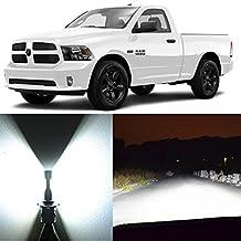 Alla Lighting 2pcs Super Bright White 9005 HB3 LED Headlight Bulbs for High Beam Headlamp Conversion Kits for 2013 2014 2015 2016 2017 Dodge Ram 1500 2500 3500 / 2009 2010 2012 W/ 4 Headlamps