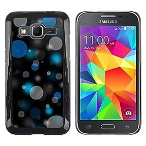 Shell-Star Arte & diseño plástico duro Fundas Cover Cubre Hard Case Cover para Samsung Galaxy Core Prime / SM-G360 ( Bokeh Blue & Gray Pattern )