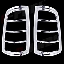 A-PADS 2 Chrome Tail Light Covers For Dodge RAM 1500 2009-2016 / 2500 & 3500 2010-16 - Rear Lights Lines Cover Pair Bezel