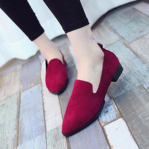 ... Sandals Chaussures Solid Femmes Chaussures Fashion Rose Escarpins  Sandales de Flat Plates E Rouge Gris Noir ... 56b8c26b62ad