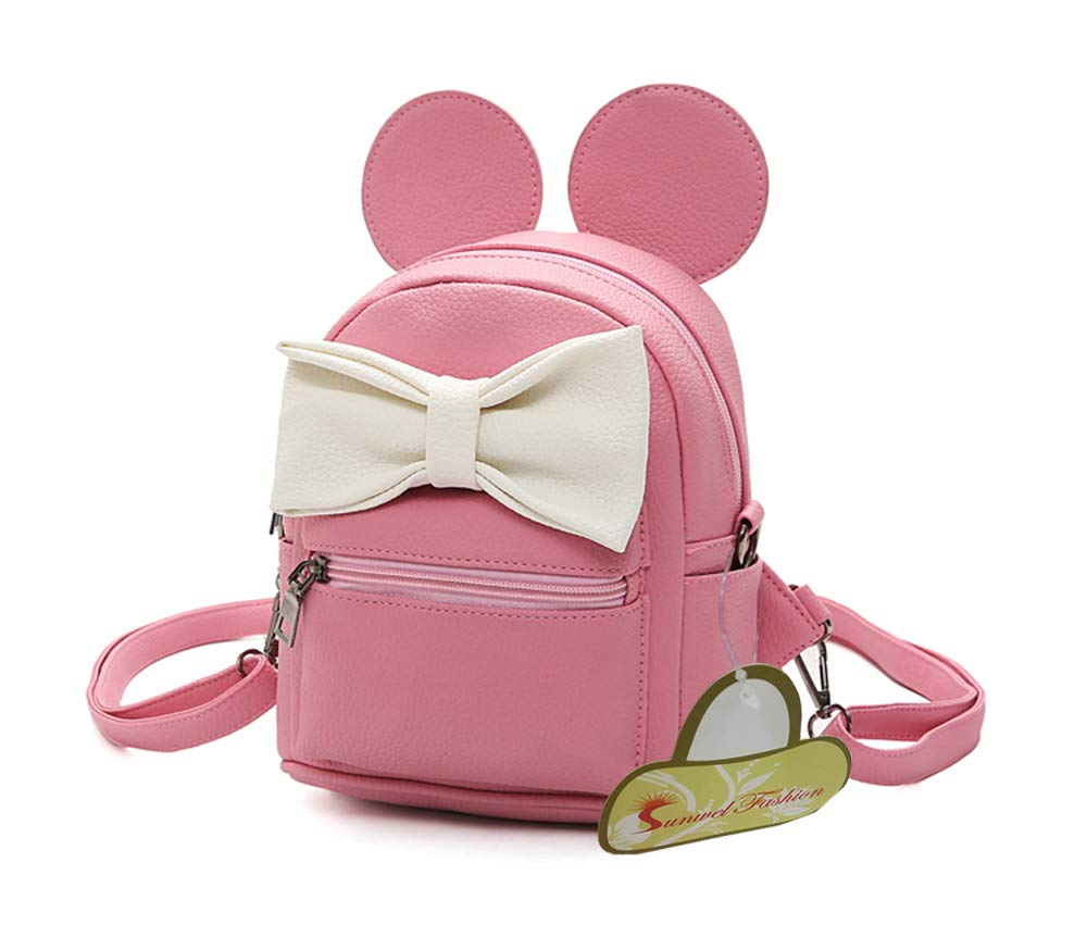 Sunwel Fashion Bag Outdoor Shopper School Bookbag Casual Shoulder Pu Tide Traveling Cute Bow Small Backpack sd1180A003B