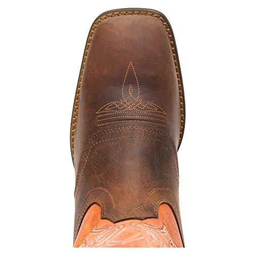 Durango Dwdb020 Heren Zwart Grafiet Western Laars Medium Bruin
