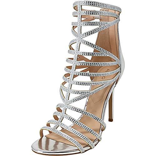ALDO Women's Fabric Cadiroma Silver Ankle-High Pump - 8M