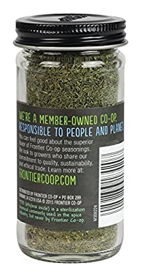 Frontier Culinary Spices Dill Weed Cut and Sifted, 0.35-Ounce Bottle