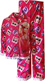 Barbie Little Girls' Long Sleeve Pajama Set with Panel, Pink, 2T