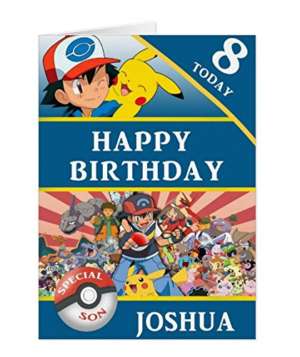 Personalised Pokemon Birthday Card Amazoncouk Kitchen Home