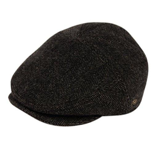 Ivy Cabbie Cap Hat - Epoch hats 100% Wool Herringbone Winter