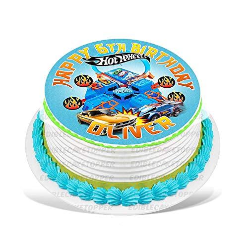 EdibleInkArt Hot Wheels Edible Cake Image Personalized Birthday 6