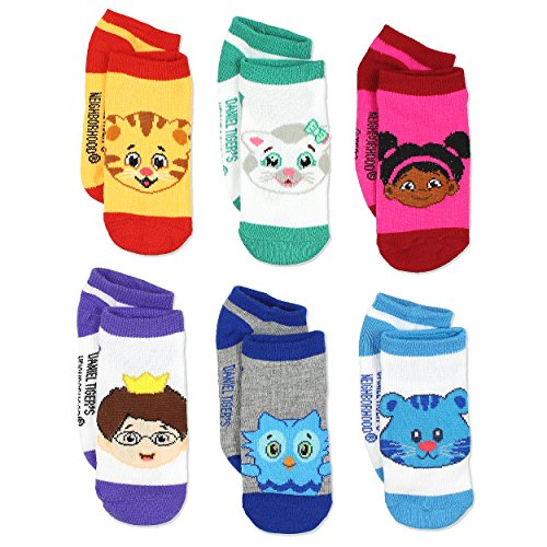 Daniel Tiger's Neighborhood Boys Girls 6 pack Socks (4-6 Toddler (Shoe: 7-10), Orange/Multi) (Tiger Toddler)