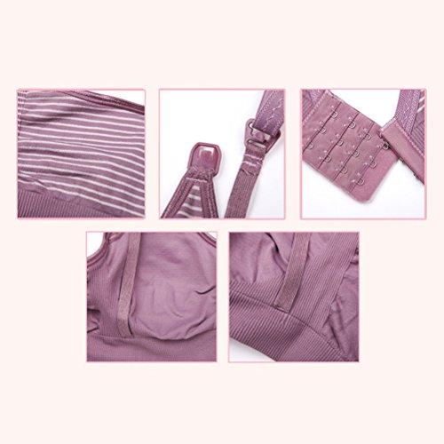 Zhuhaitf Fine Fabric Tank Tops Breastfeeding Front Buckle Support Bras For Maternity by Zhuhaitf (Image #5)