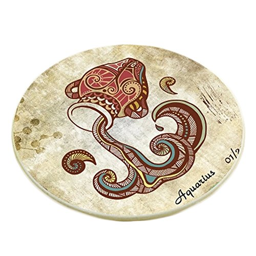 Creative Set of 6 Round Cup Coaster Cup Tray Placemat Drink Holder, A