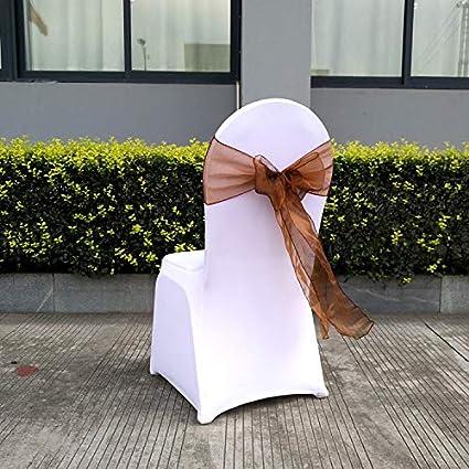 Confezione da Sposa Speciale di 25 Pezzi 7x108 Organza Chair Sash Bow Sash per Matrimoni ed Eventi Decorazione per Feste