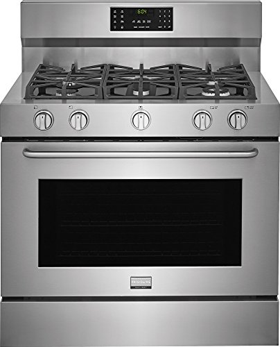 Frigidaire FGDF4085TS Gallery Series 40 Inch Freestanding Dual Fuel Range with 5 Burners, Sealed Cooktop, 6.4 cu. ft. Primary Oven Capacity, in Stainless ()